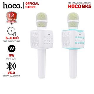 [Mã 2404EL10K giảm 10K đơn 20K] Micro Karaoke Hoco BK5 bluetooth V5.0, âm thanh sống động - Tương thích với mọi thiết bị
