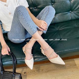 Giày cao gót bít mũi đính đá mã S158 thumbnail