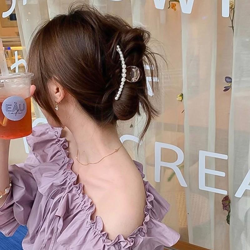 Kẹp Tóc Đính Ngọc Trai Phong Cách Hàn Quốc Cho Nữ