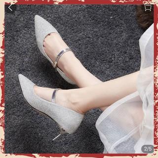 Giày Nữ Cao Gót  5CM Trẻ Trung Công Sở Nhũ Cực Xinh Mã XK_C20