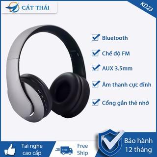 Tai nghe bluetooth 4.2 chụp tai không dây, tai nghe over-ear 2 in 1 tai nghe wireless KD23 Hands Free Mic dùng được cho