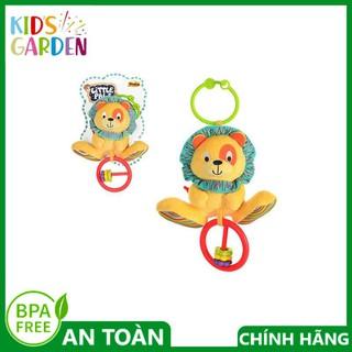 Đỗ chơi thú bông cầm tay 000118 (Thú bông xúc xắc treo cũi sư tử) hiệu Winfun