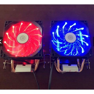 Tản khí CPU 2 ống đồng led đỏ 12 bóng newbox INTEL/AMD
