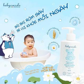 Hình ảnh Sữa tắm gội cho bé Babycoccole 0M+ an toàn cho trẻ sơ sinh & em bé chiết xuất hoa sen 250ml/400ml-4