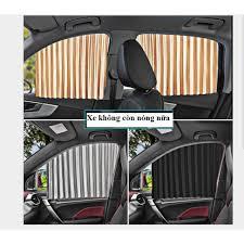 [Giá 1 Bộ 4 Cửa] Rèm vải che nắng xe hơi gắn nam châm tiện dụng