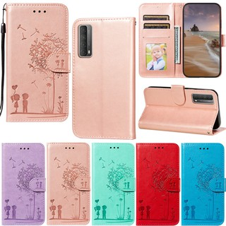 Bao Da Pu Họa Tiết Hoa Bồ Công Anh Thời Trang Cho Samsung Galaxy Note 20 Ultra Note 10 Lite Note 10+ Note 9 S10 Lite S20 Fe A7 2018 A750 wallet soft pu leather flip stand mobile phone holder case cover