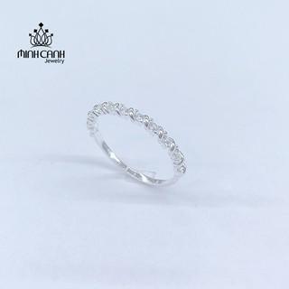 [Mã MCJ20 giảm 20K đơn từ 199K] Nhẫn Bạc Nữ Xoắn Đính Đá - Minh Canh Jewelry thumbnail