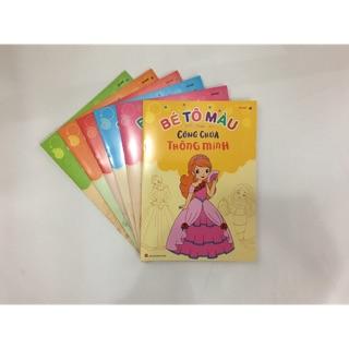 Combo 6 quyển bé tô màu công chúa