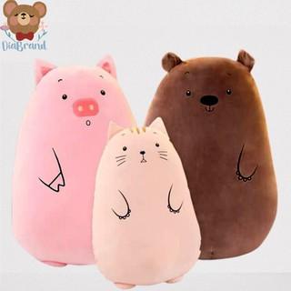 Gấu Bông Ôm Hình Thú Tròn Siêu Mềm Mịn Ngộ Nghĩnh 3 Mẫu (2 Size) [ Diabrand ]