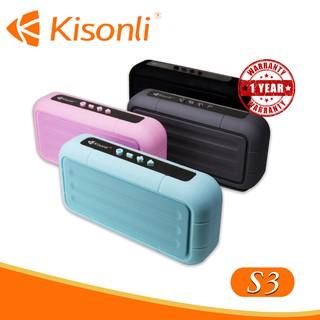 [HÀNG MỚI VỀ] Loa Kisonli Bluetooth S3 _ Âm thanh hay, màu sắc trẻ trung (Màu ngẫu nhiên)