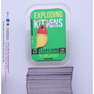 Mèo Nổ Xanh 124 Lá – Exploding Kittens Green (Board Games)