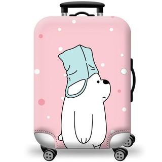 Túi bọc bảo vệ vali -Áo vỏ bọc vali - Mẫu Gấu Đội Mũ Size S M L XL HPValiOEMmũ thumbnail