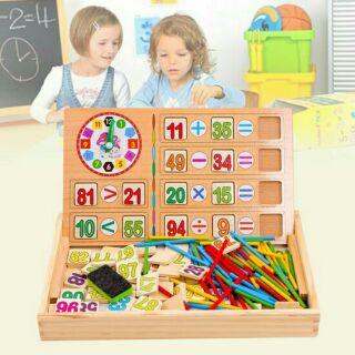 Bảng gỗ toán học cho bé có que tính