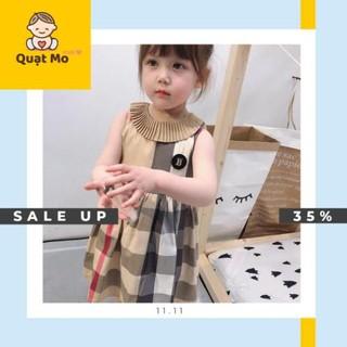 Váy kẻ B.B.R cổ xếp li (3-6 tuổi) M1266 hàng xuất Âu Mỹ