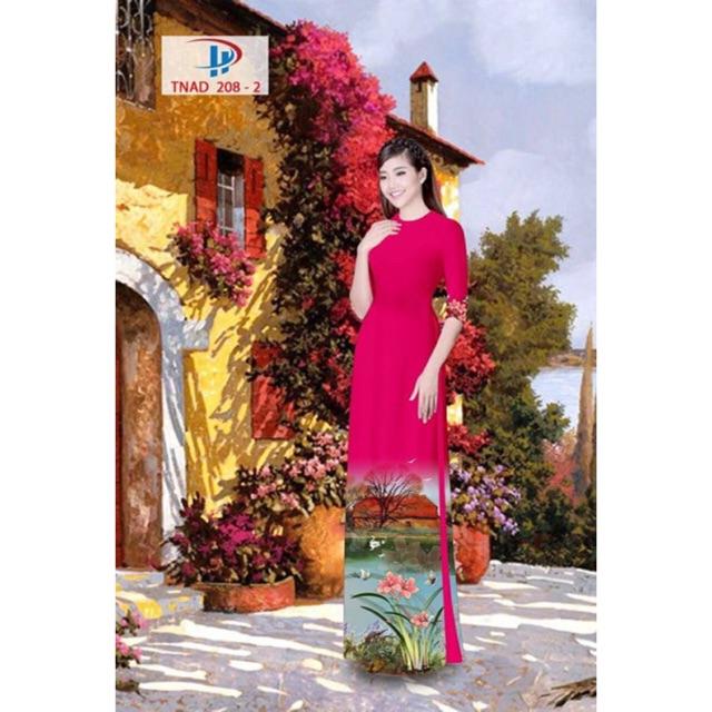 Vải áo dài phong cảnh