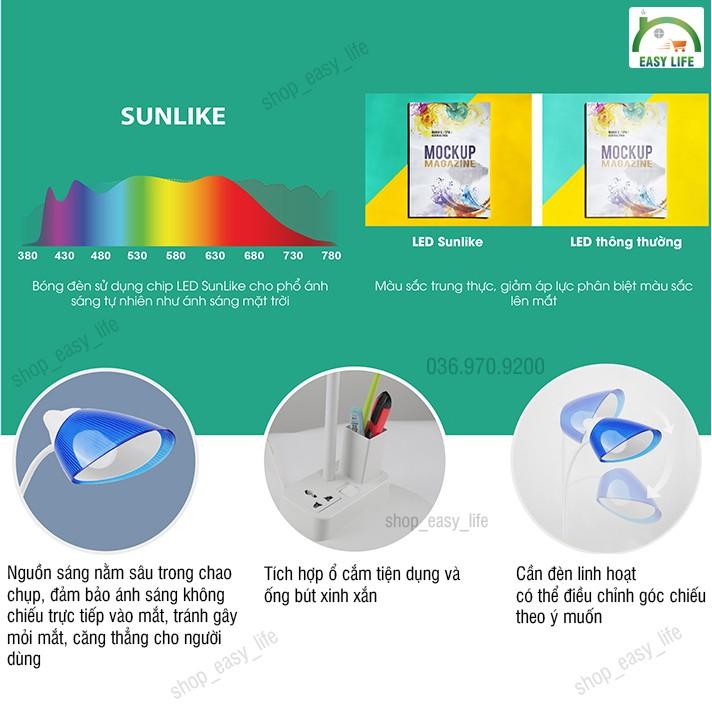 [Có Ổ Cắm]Đèn Bàn LED Chống Cận Có Ổ Cắm Cao Cấp Rạng Đông DB-RL-40
