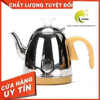 【đen – vàng】Bếp Điện Đun Nước Pha Trà Tự Động Xoay hoàn toàn cảm ứng 100%