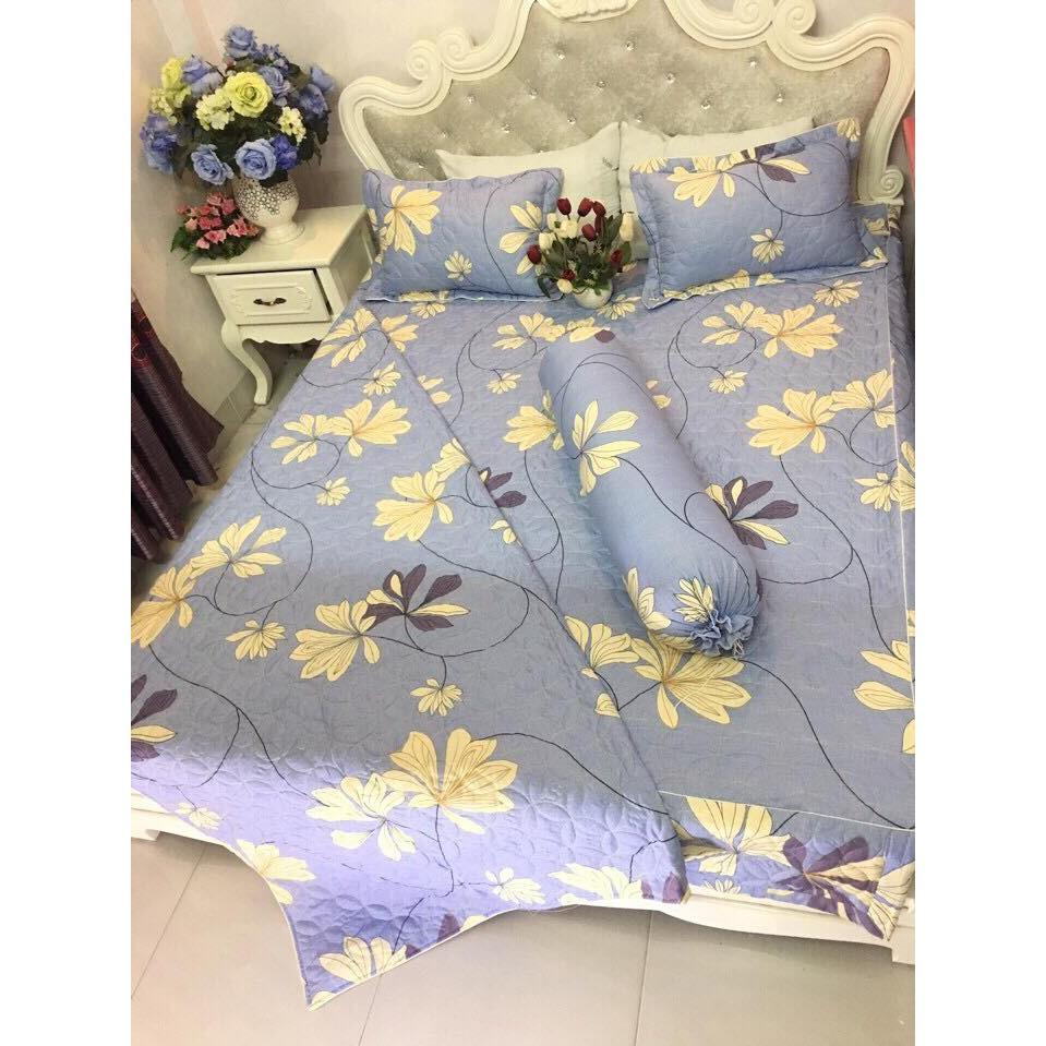 Bộ ga giường cotton poly giá rẻ (chọn mẫu và kích thước)