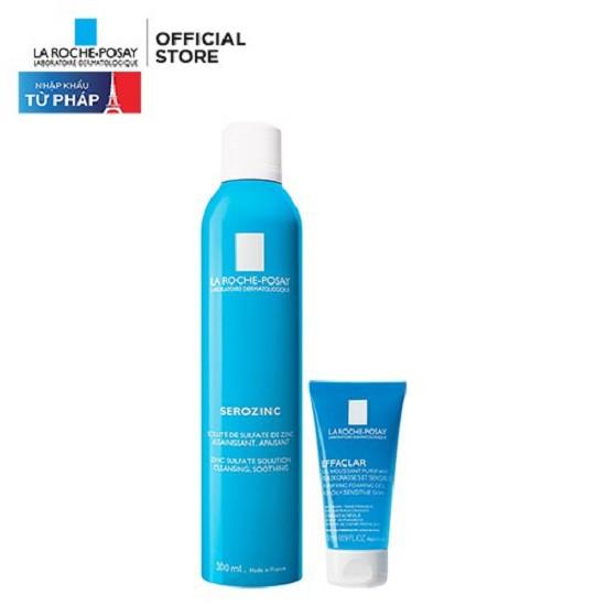 Bộ sản phẩm xịt khoáng giảm dầu ngừa mụn & làm sạch sâu cho da dầu mụn La Roche-Posay Serozinc 350ml