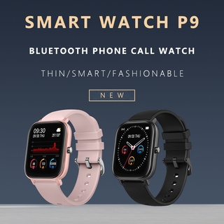 [Ready Stock] P9 Đồng hồ thông minh Smart Watch Waterproof Full Touch Screen Heart Rate Monitoring Bluetooth Sports Smart Watch Fitness Watches