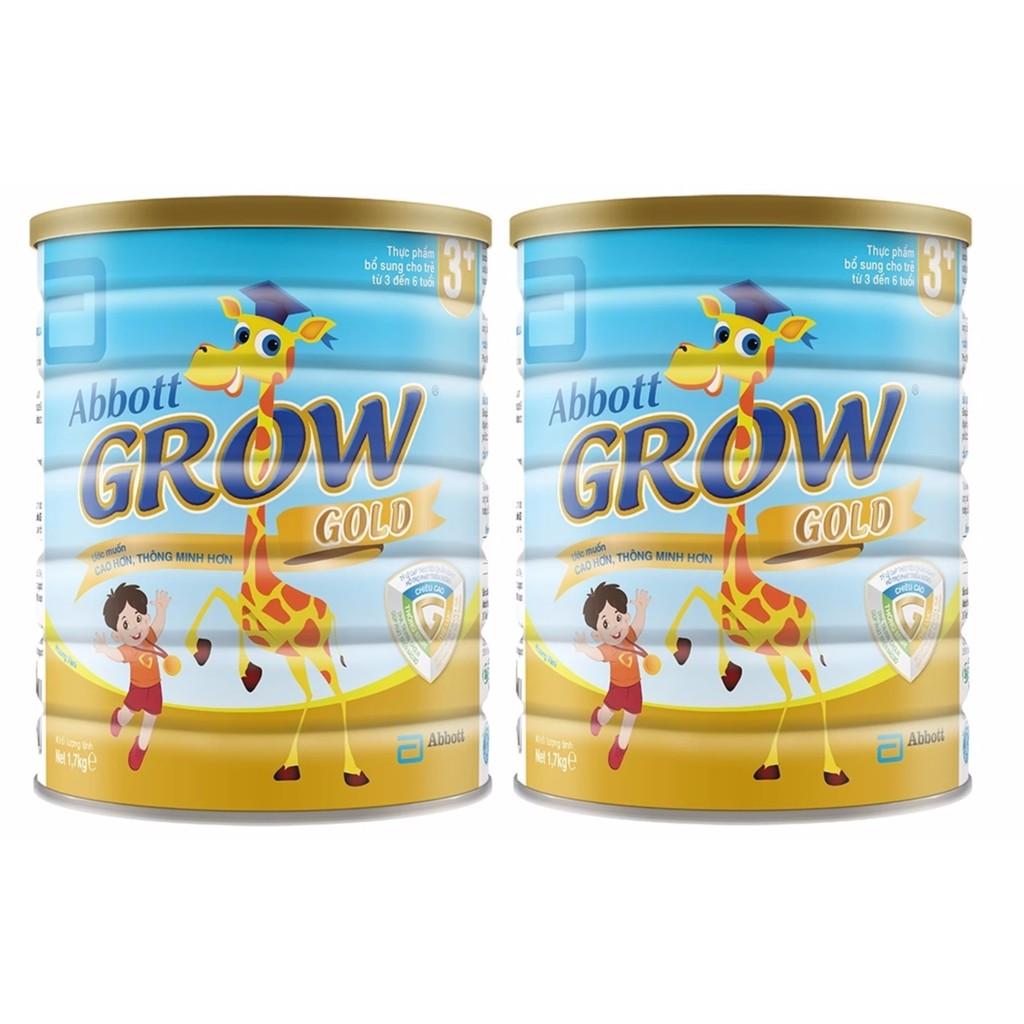 Bộ 2 hộp sữa bột Abbott Grow Gold 3+ 1.7kg