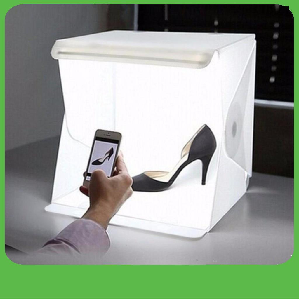 [FLASH SALE]  Hộp chụp sản phẩm mini 2 dàn đèn led tặng kèm 6 tấm nền backgound