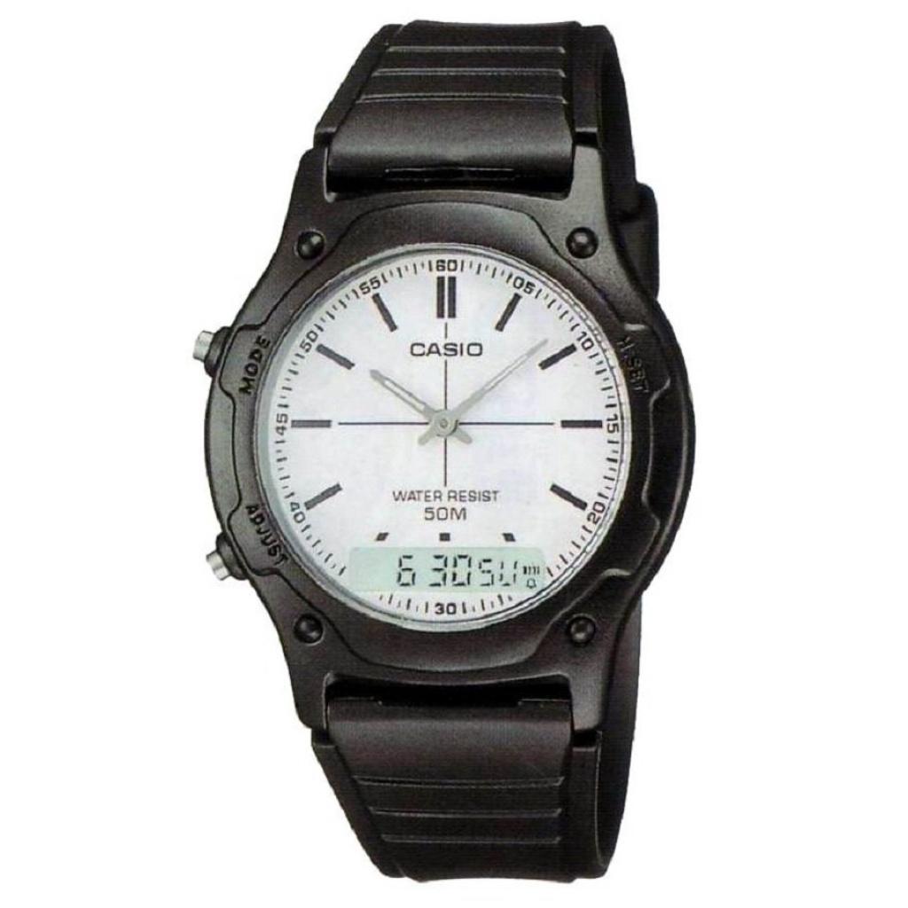 Watch Casio Standard Analog-Digital นาฬิกาผู้ชาย สายเรซิ่น  AW-49H-7EVDF - Blackatch Casio Standard Analog-Digital นาฬิก