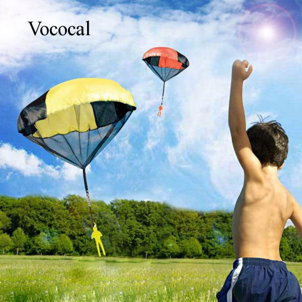 Vococal Children Babies Kids Outdoor Sports Hand Throwing Mini Parachute Educational Toy Random Color Quantity 1