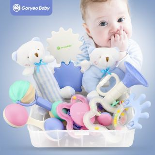 Set đồ chơi xúc xắc gặm nướu phát triển kỹ năng cơ bản cho bé thương hiệu Gorygeo Baby Hàn Quốc
