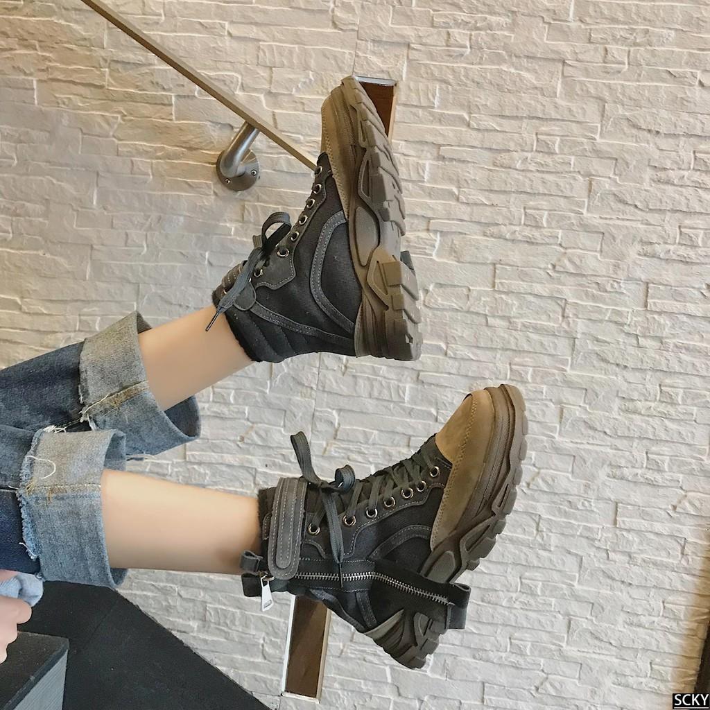 ★Women's boots winter new 2018 British wind students Korean
