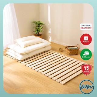 Giường kèm nệm Nhật Bản - Êm ái - Tiện lợi - Bền đẹp - Kích thước 1m, 1m4, 1m6