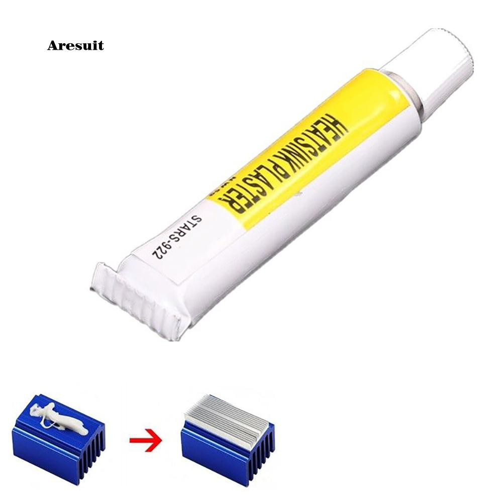 AEST❤2Pcs Heatsink Cooling Plaster CPU Thermal Conductive Glue with Strong Adhesive