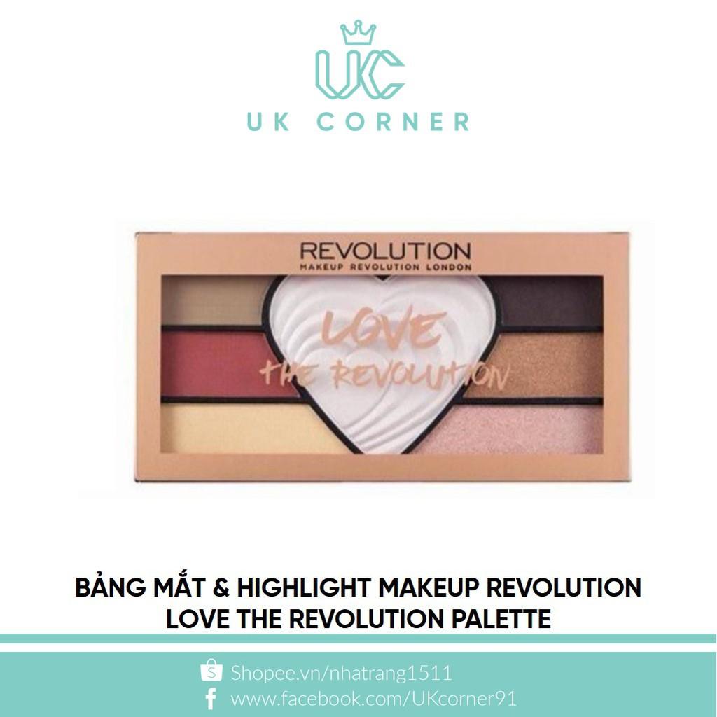 [THANH LÝ MẶT KÍNH XƯỚC] Bảng mắt & highlight Makeup Revolution Love The Revolution Palette