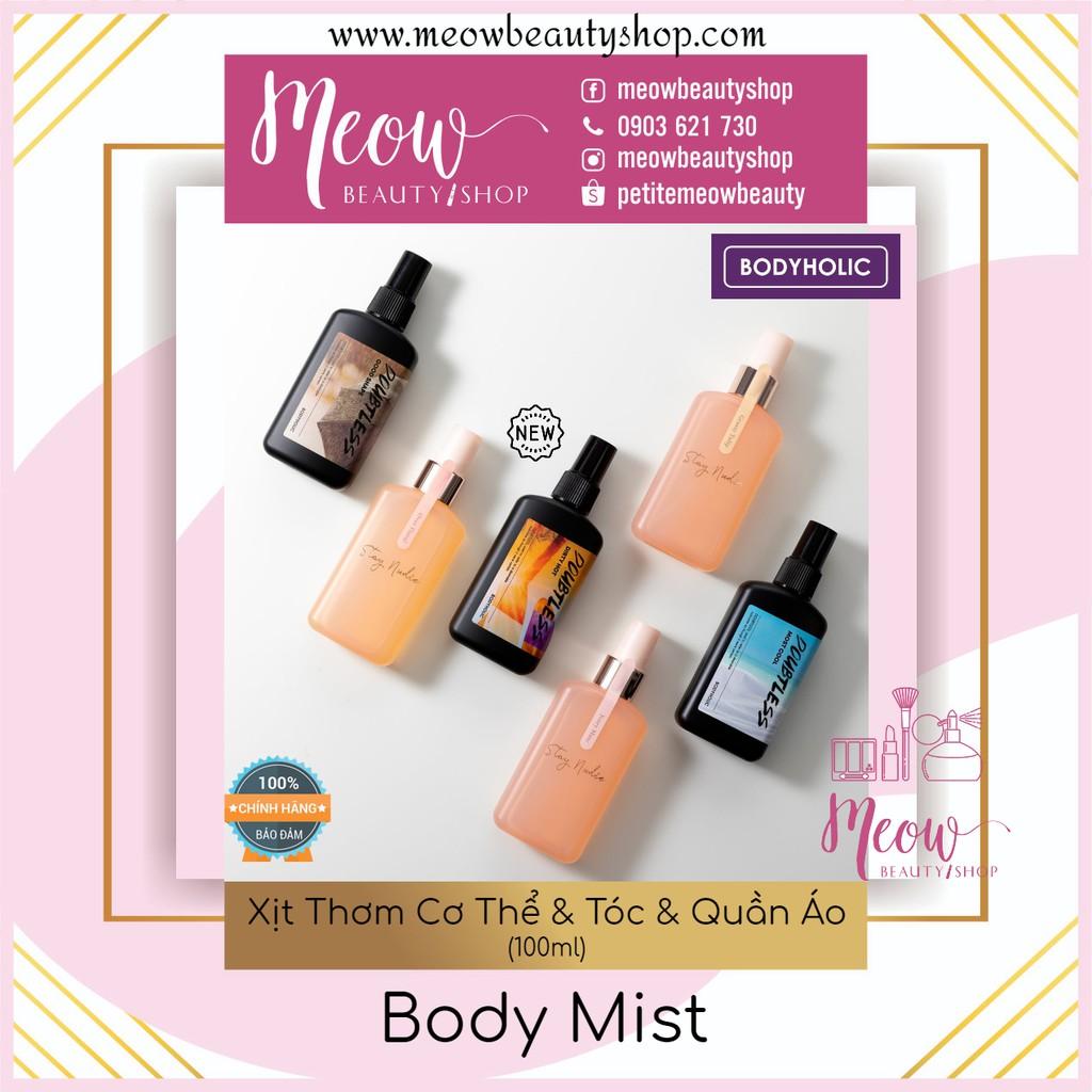 Bodyholic Body Mist - Xịt Thơm Cơ Thể & Tóc & Quần Áo Nam Nữ (100ml)
