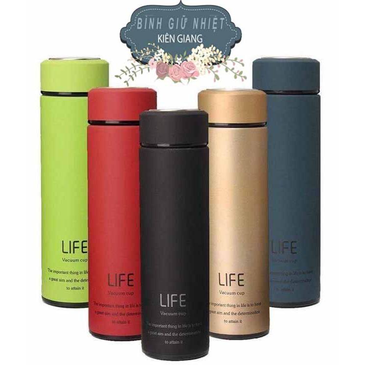 Bình Giữ Nhiệt Life 500ml (Tặng túi đựng bình)