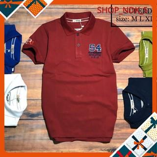 Áo thun nam ngắn tay cổ bẻ logo chữ số nhiều màu sắc cực đẹp – A012