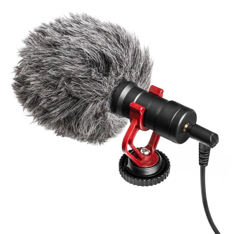 Micro thu âm mini BY-MM1 dành cho camera DSLR Canon&Nikon/điện thoại thông minh iOS&Android