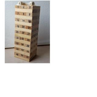 [đồ chơi an toàn] Đồ chơi rút gỗ 54 thanh loại to – Đồ chơi thông minh cho bé