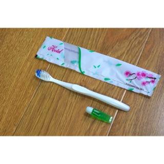 Combo 100 Bộ Bàn Chải 138 + Kem Đánh Răng dùng trong khách sạn
