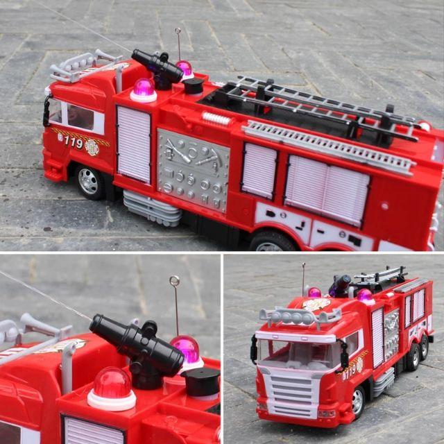 Xe cứu hỏa điều khiển phun nước từ xa