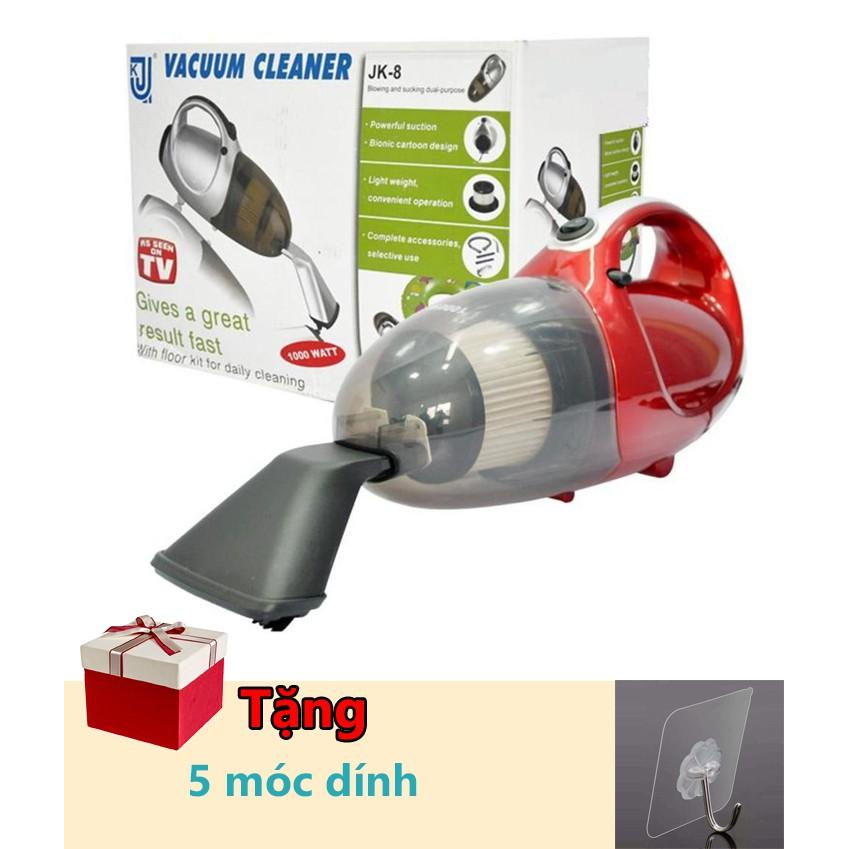 Máy hút bụi 2 Chiều Mini Vacuum Cleaner JK-8 đỏ tặng kèm 5 móc siêu dính