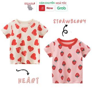 Áo thun bé gái tay ngắn 27Home in hình trái tim dễ thương chất liệu cotton an toàn cho bé hàng chuẩn xuất Âu Mỹ thumbnail