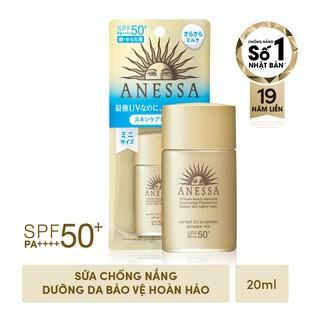 Hình ảnh [Mã COSMALL17 -10% ĐH 250K]Bộ đôi chống nắng bảo vệ hoàn hảo Anessa Perfect UV Sunscreen Skincare Milk-2