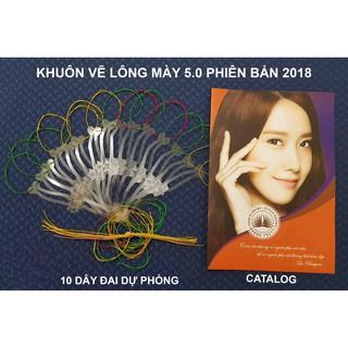Khuôn vẽ lông mày phun xăm 5.0 - 15 dáng từ Cong đến Ngang