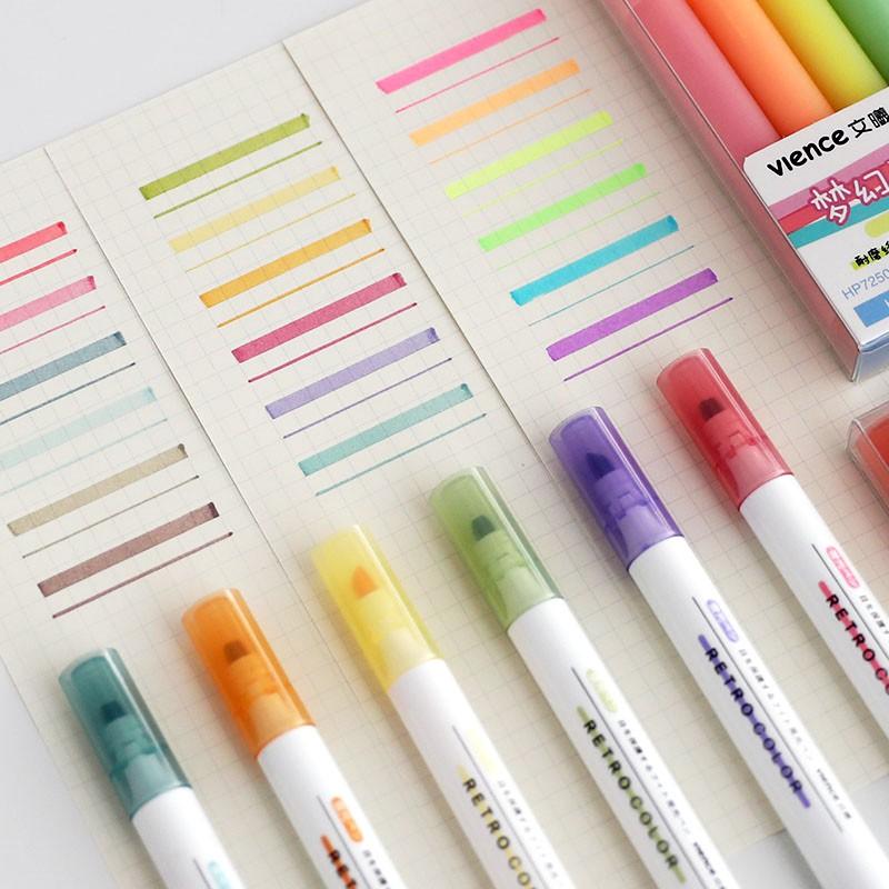 Winzige Bộ bút dạ quang 6 màu xinh xắn tiện dụng