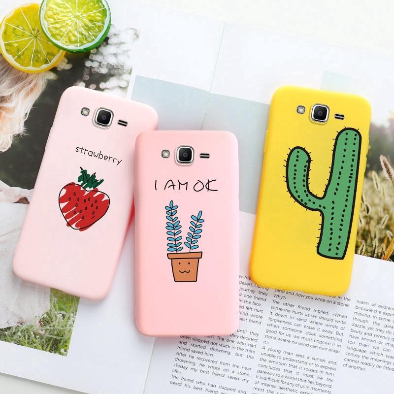Ốp điện thoại dẻo màu kẹo ngọt in họa tiết cây cối chống in dấu vân tay cho Samsung Galaxy J2 Prime J6 2018 EU J7 2015