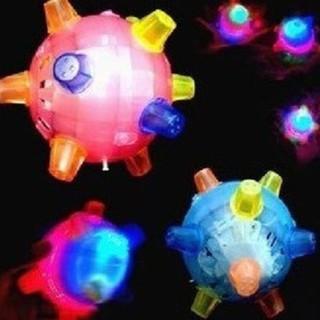 Colorful LED Jumping Sound Sensitive Vibrating Powered Ball Game Kids Flashing