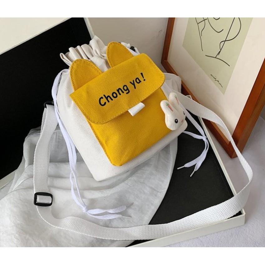 Túi vải đeo chéo phong cách Nhật Bản CHONG YA GT 458