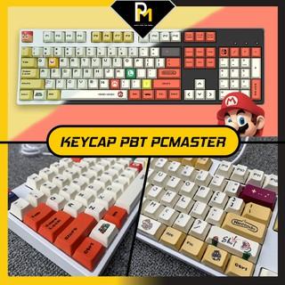 Keycap PBT Mario đỏ,vàng dyesub in 5 mặt Cao cấp gắn full phím 120 PCMASTER