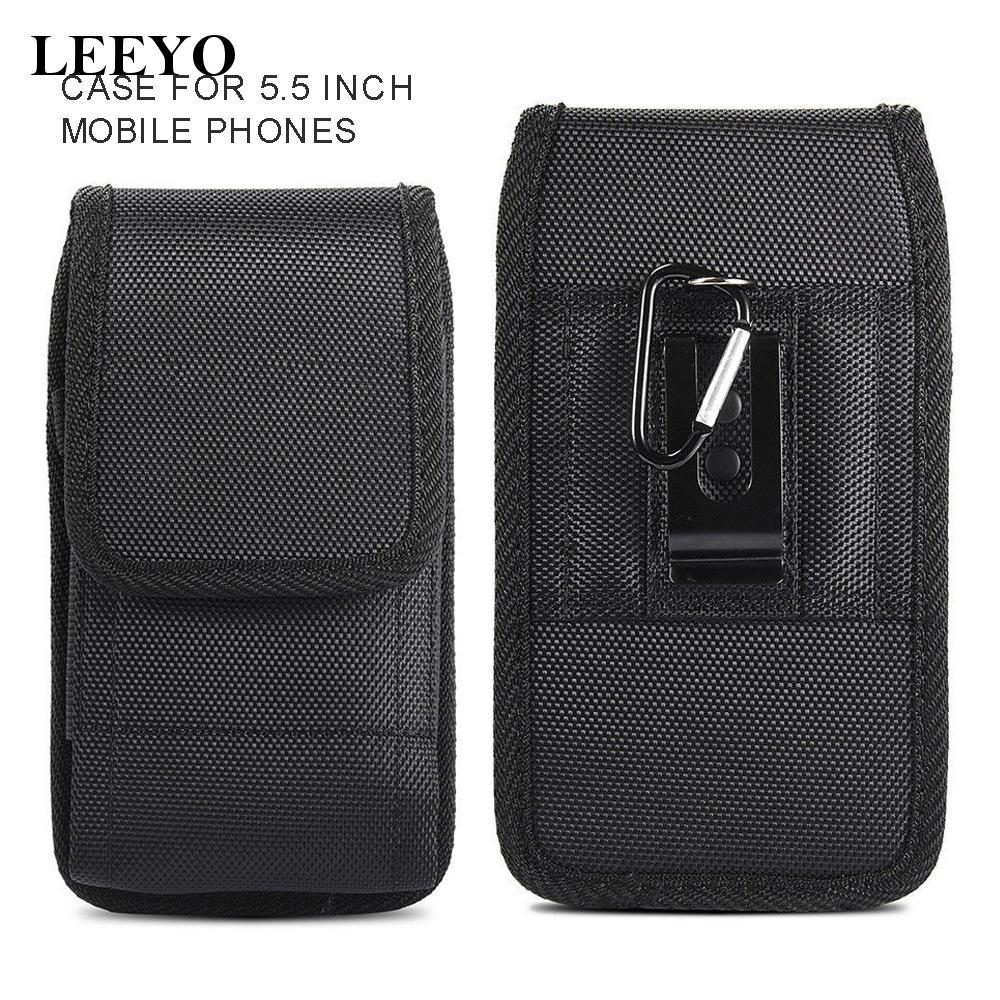 Fit For 5.5inch Phone Belt Bag Flip Holder With Card Slot Universal High quality